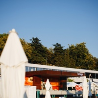 The restaurant «Gostidze» on the «Riviera» beach in Sochi — outside view