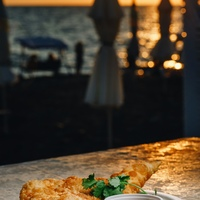 The restaurant «Gostidze» on the «Riviera» beach in Sochi — sea and sunset views